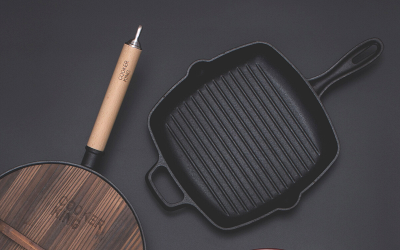 Greasing a Grill Pan